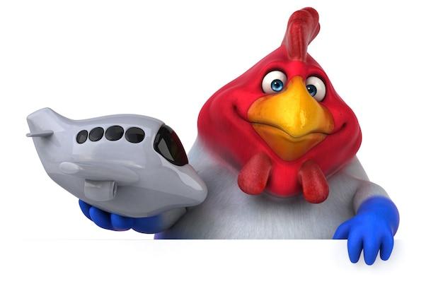 楽しい鶏イラスト
