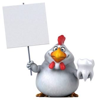 楽しい鶏のイラスト