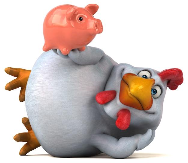 Забавная иллюстрация курицы