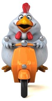 Fun chicken illustration