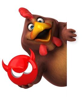 Забавный цыпленок