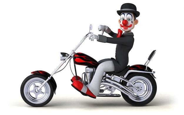 Веселый клоун - 3d иллюстрация