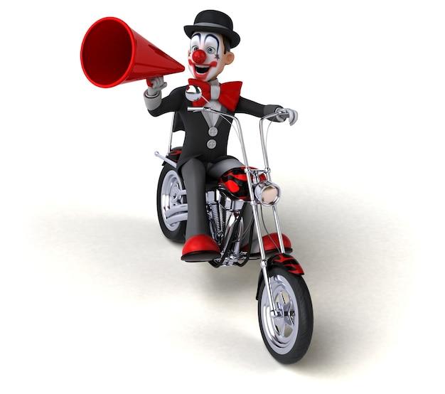 Веселый клоун - 3d иллюстрации