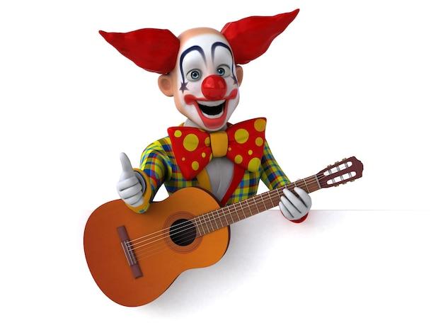 Забавная иллюстрация клоуна