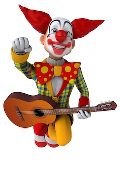 Fun clown illustration