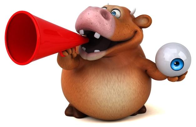 Fun cow - 3d illustration