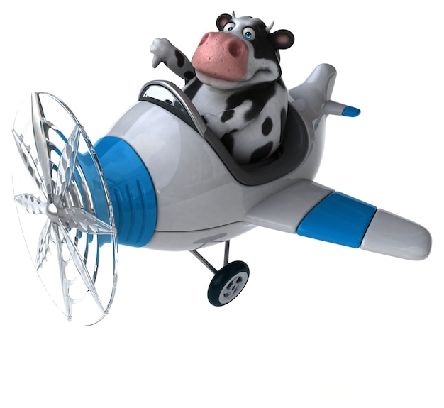 楽しい牛-3dイラスト