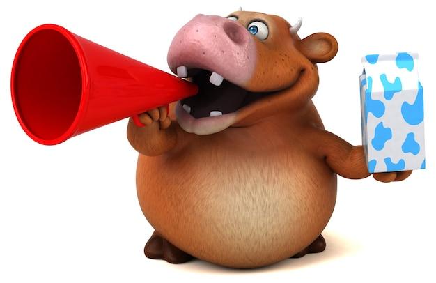 Веселая анимация коровы