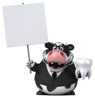 Забавная иллюстрация коровы