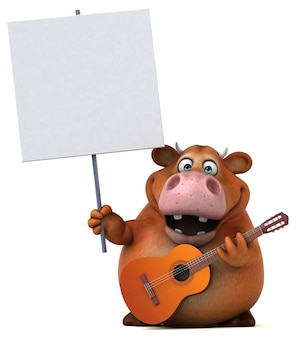 Fun cow illustration