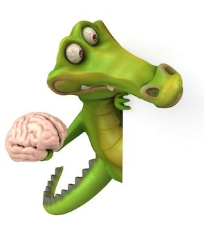 Забавная анимация крокодила