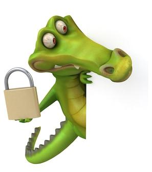 Забавный крокодил иллюстрация