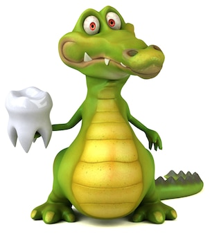 Fun crocodile illustration