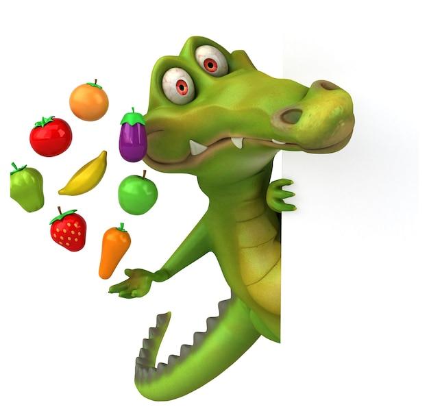 Забавный крокодил