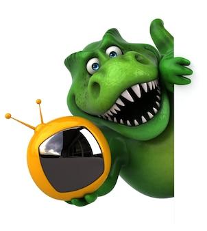재미있는 공룡 - 3d 일러스트레이션