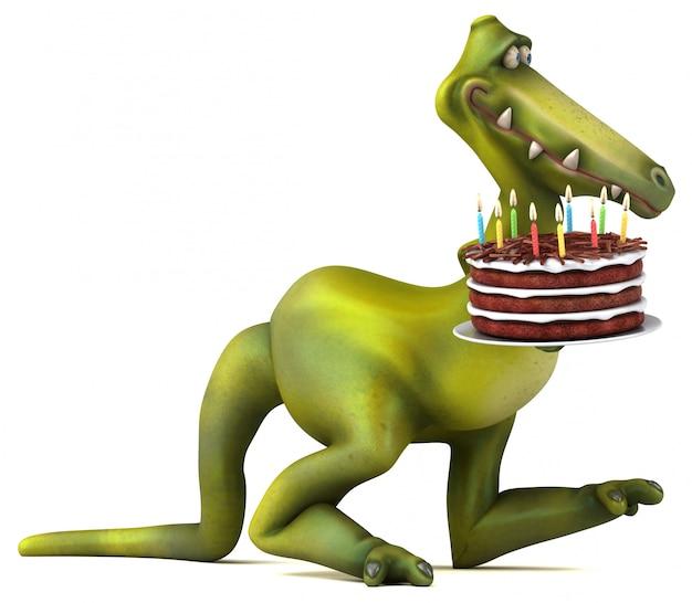 楽しい恐竜-3 dイラストレーション