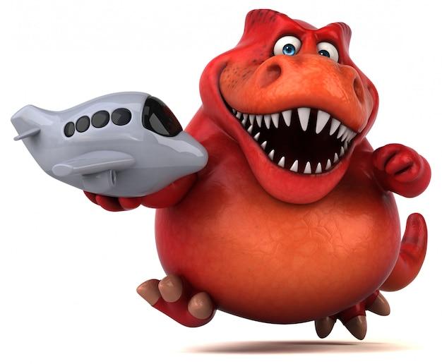 Забавный динозавр - 3d иллюстрация