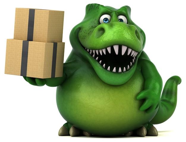 Забавный динозавр - 3d иллюстрации