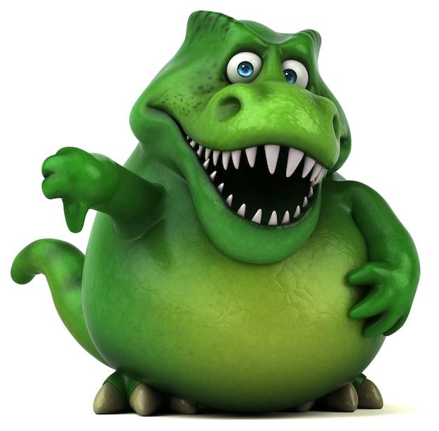 Забавная иллюстрация динозавра