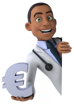 Fun doctor, 3d character