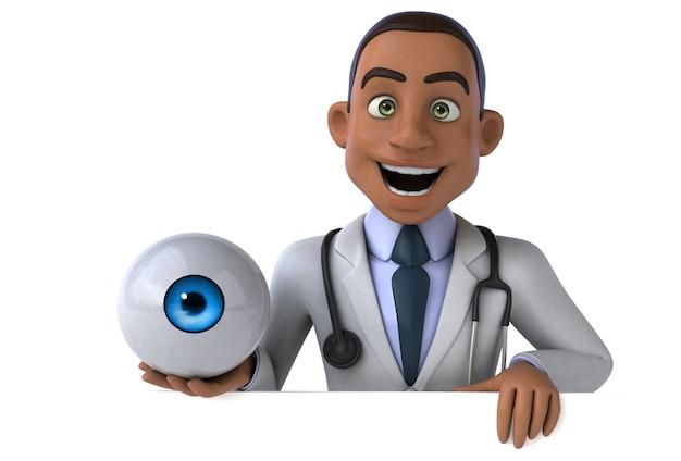 Иллюстрация весело доктор