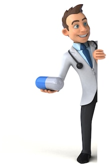 Весело доктор иллюстрация