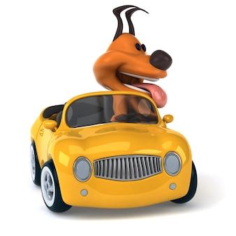 Забавная собака - 3d иллюстрация