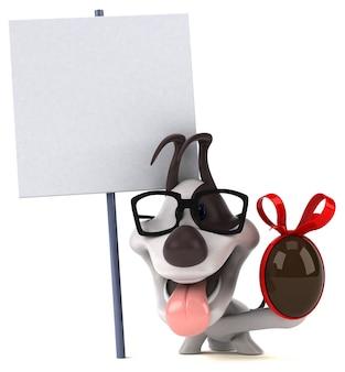 Fun dog 3d illustration