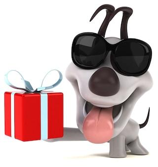 Забавная собака 3d иллюстрации