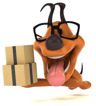 Забавная собака - 3d иллюстрации