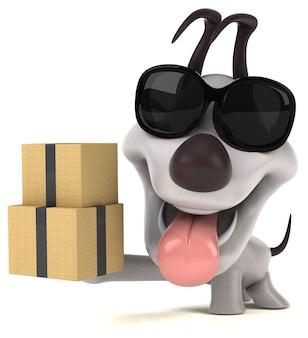 Забавная собака иллюстрация