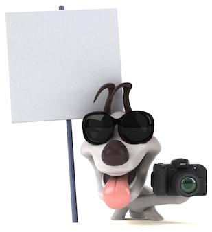Иллюстрация весело собака