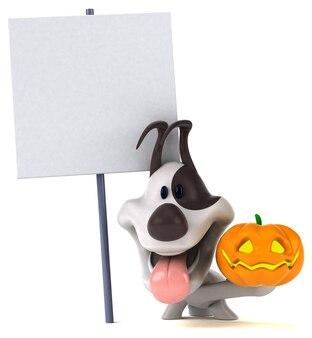 楽しい犬のイラスト