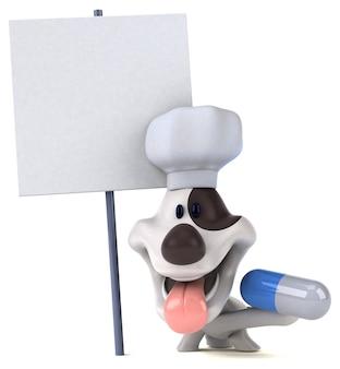 Fun dog illustration