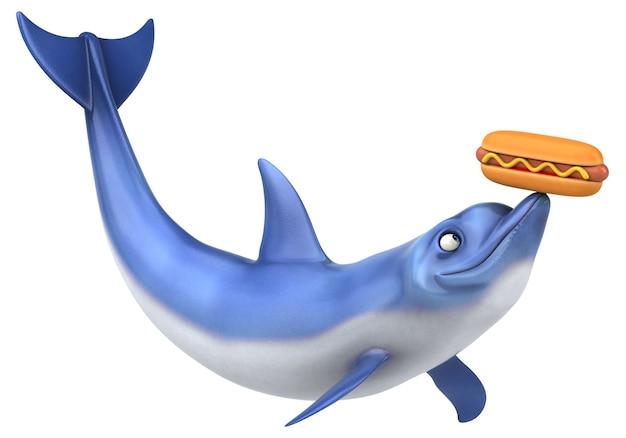 재미있는 돌고래 - 3d 일러스트레이션