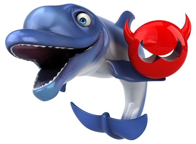 Fun dolphin 3d иллюстрация