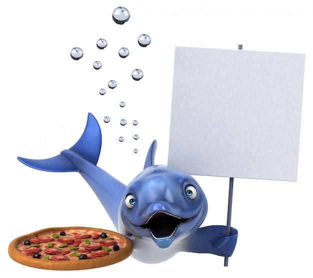 楽しいイルカのアニメーション