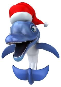 Веселая анимация дельфина