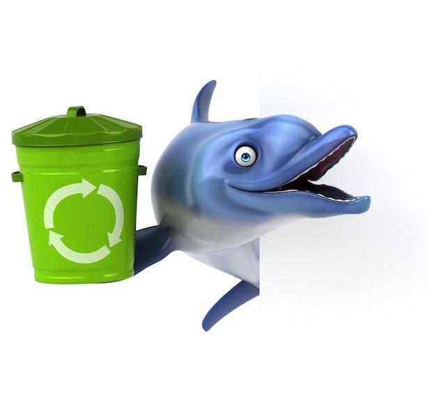 Иллюстрация весело дельфин