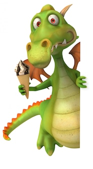 Веселый дракон - 3d персонаж
