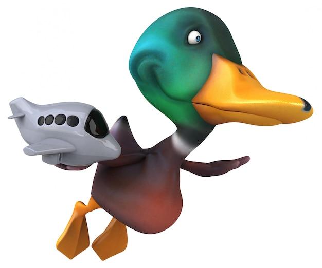 Веселая утка 3d иллюстрации