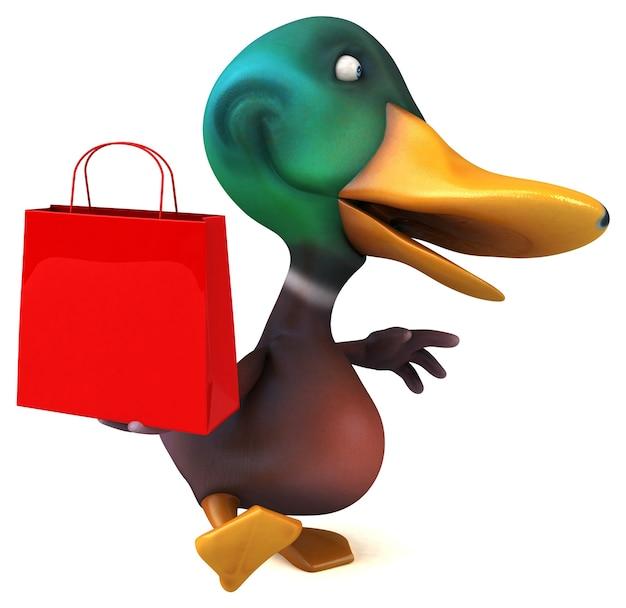 Fun duck 3d illustration