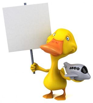 Веселая утка - 3d иллюстрации