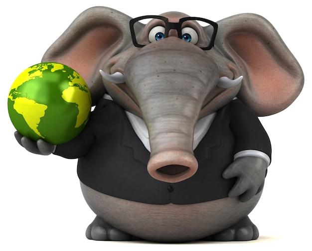 재미있는 코끼리-3d 캐릭터