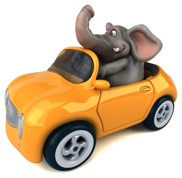Fun elephant - 3d character