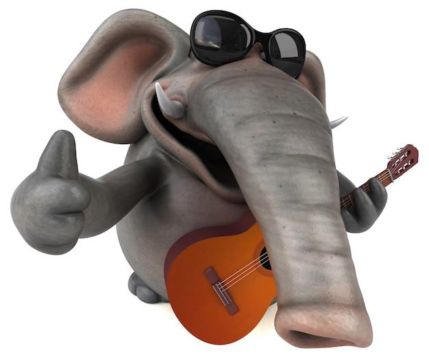 楽しい象 - 3d キャラクター