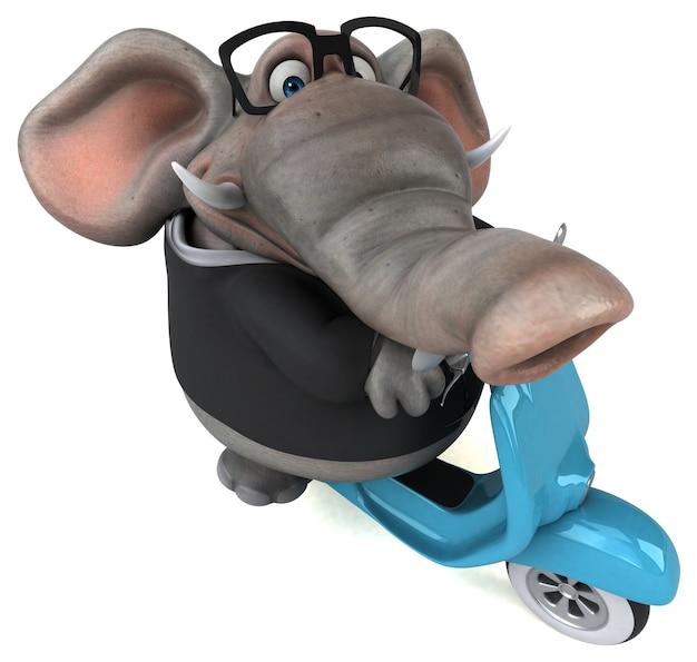 Веселый слон - 3d персонаж