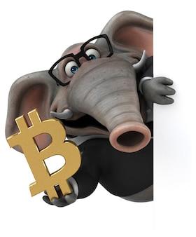 재미있는 코끼리 - 3d 일러스트레이션