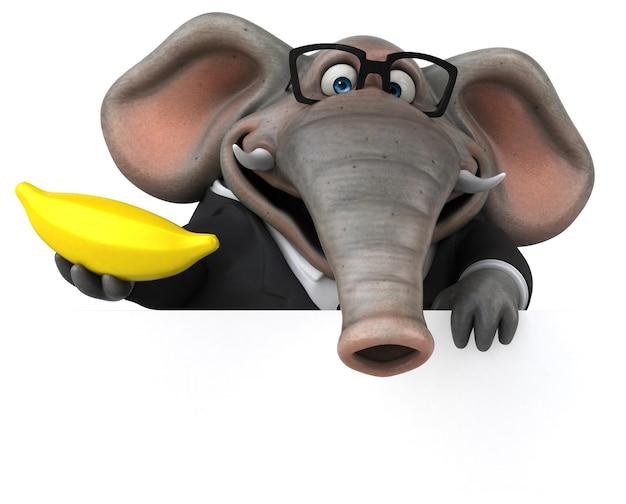 楽しい象-3dイラスト