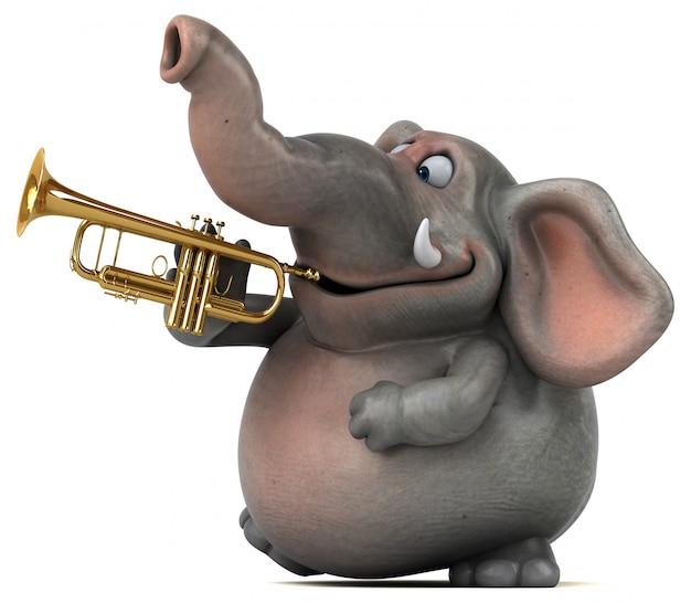 Fun elephant - 3d illustration